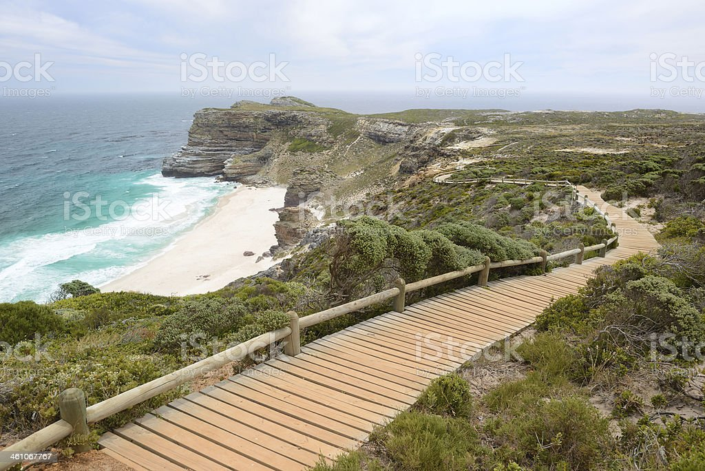 Diaz Beach, Cape Point Nature Preserve, South Africa stock photo