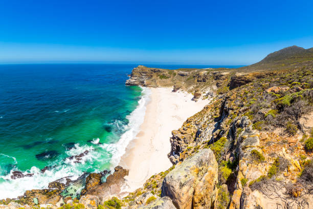 Diaz Beach in the Cape of Good Hope stock photo