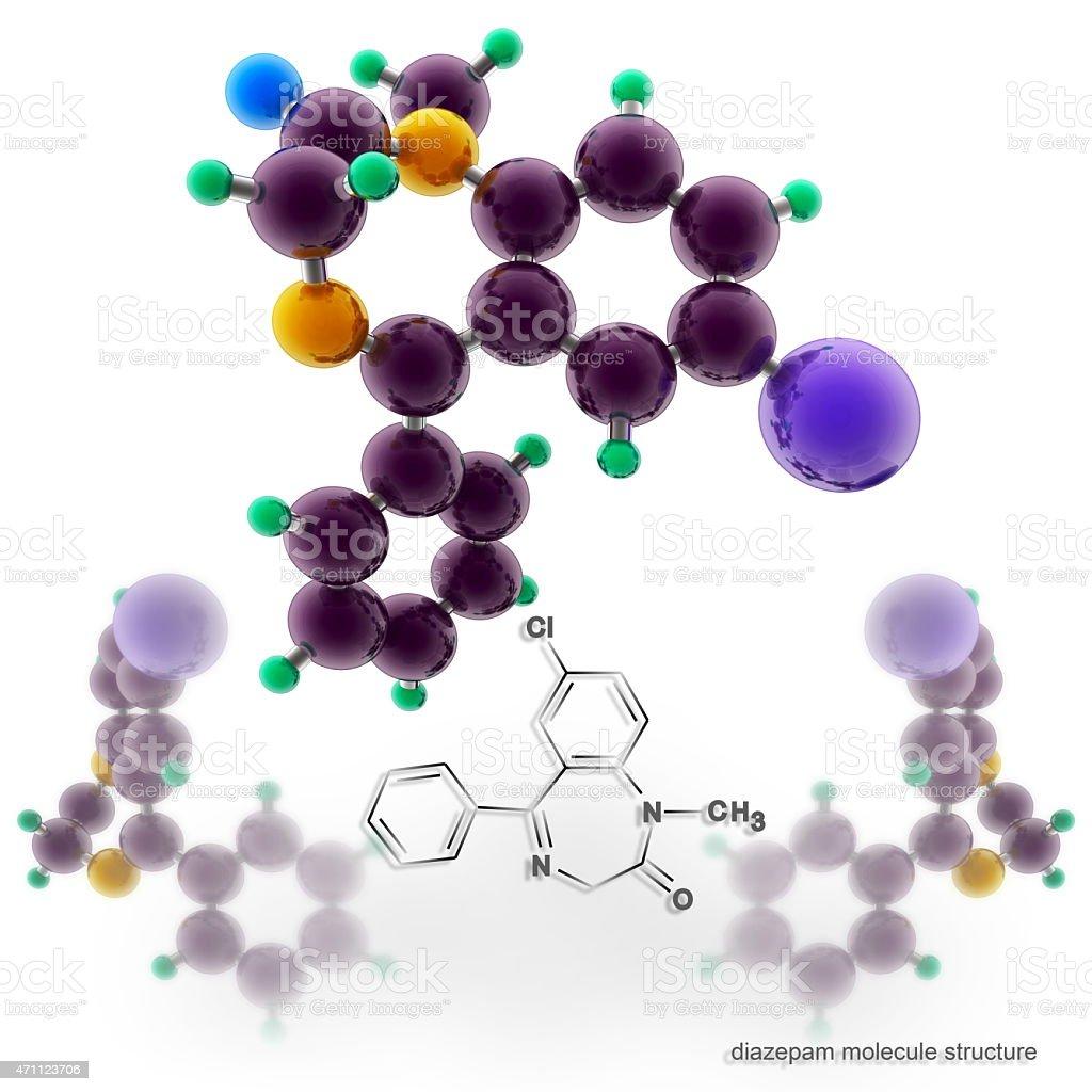 Diazepam molecule structure stock photo