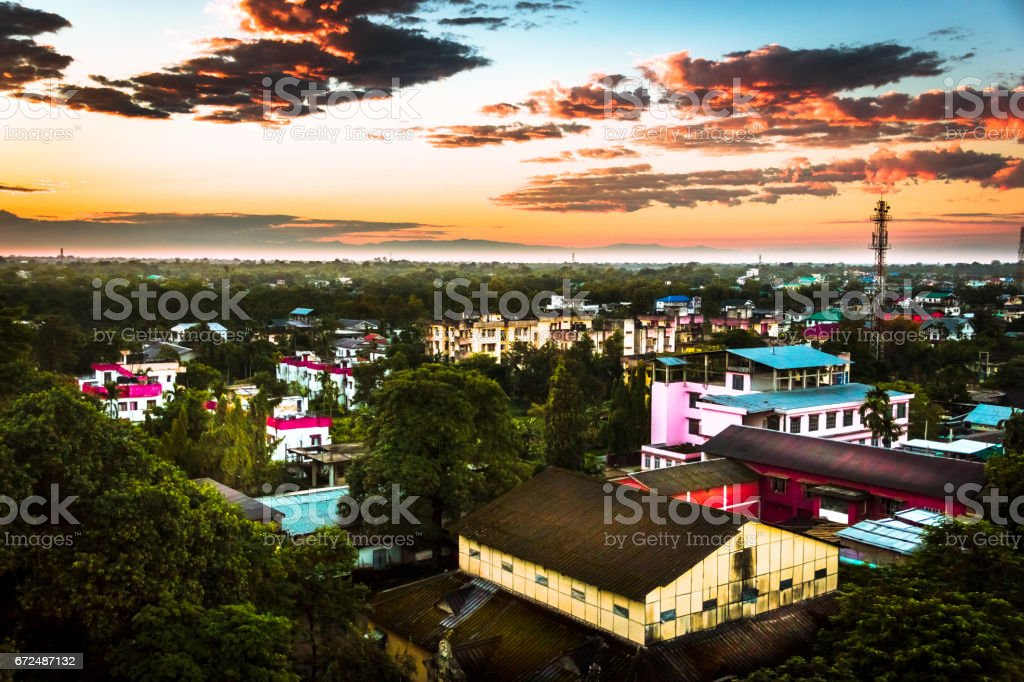 Dibrugarh Town Vista Assam India Stock Photo - Download Image Now