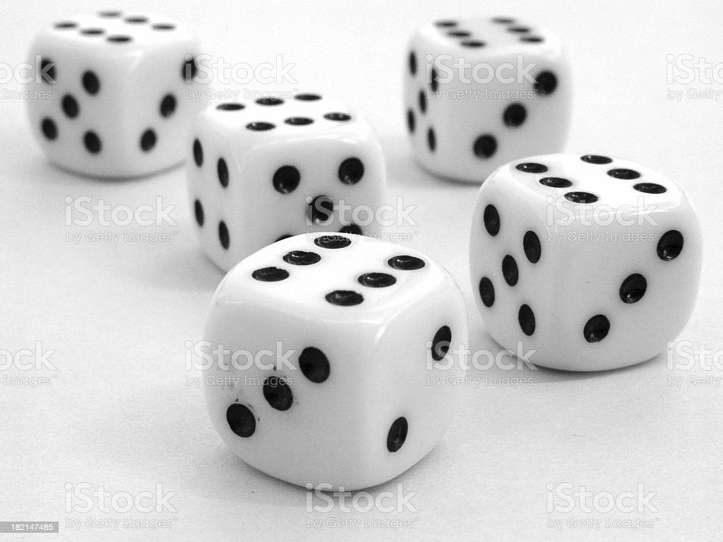 Dice All Six royalty-free stock photo
