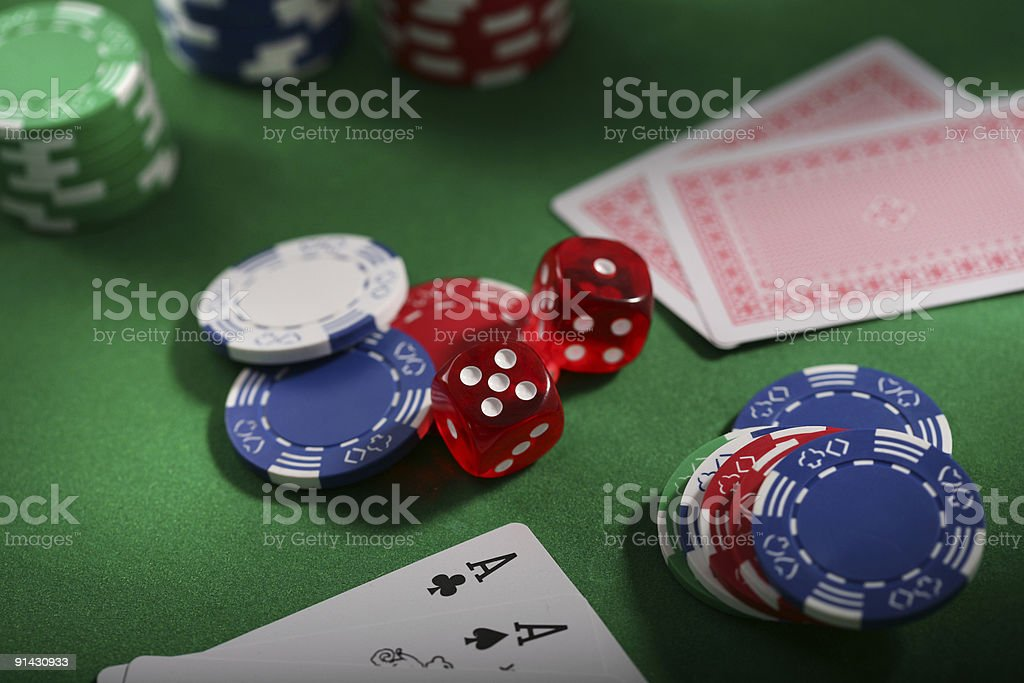 dice and cards stock photo