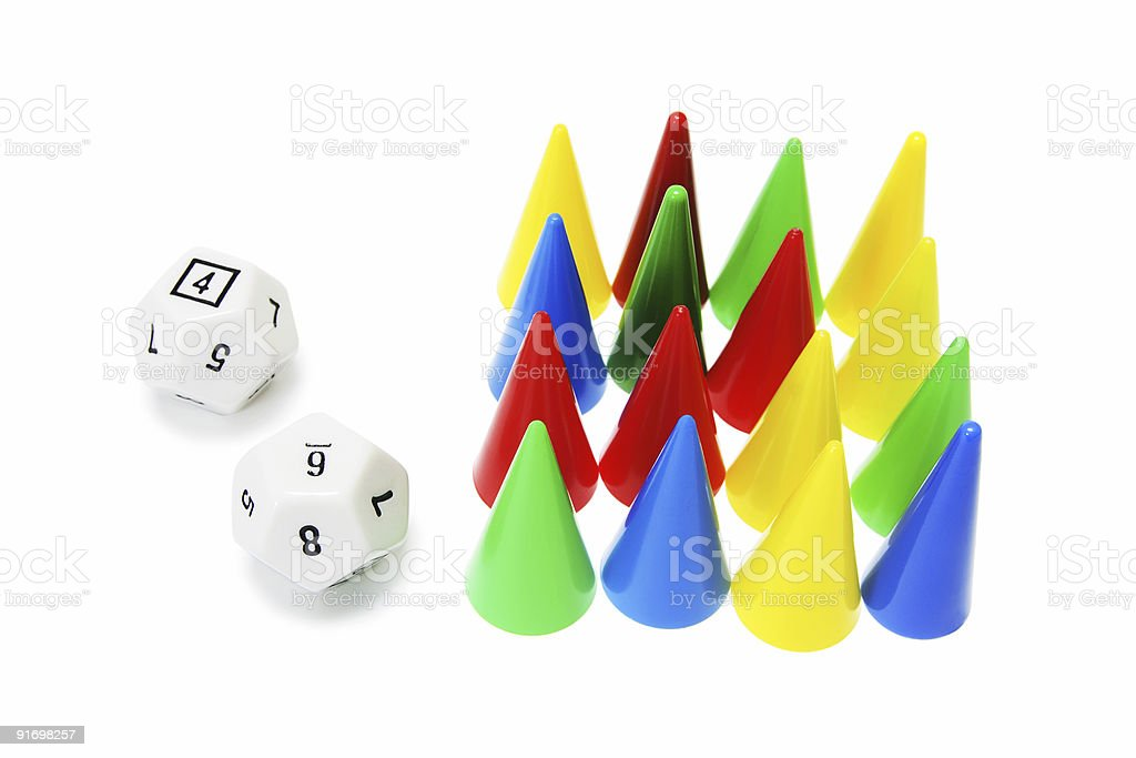 Dice and Game Pegs royalty-free stock photo