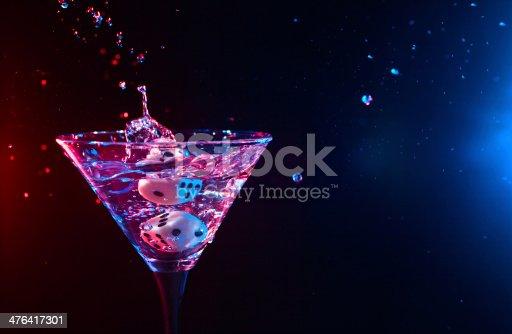 istock dice and martini 476417301