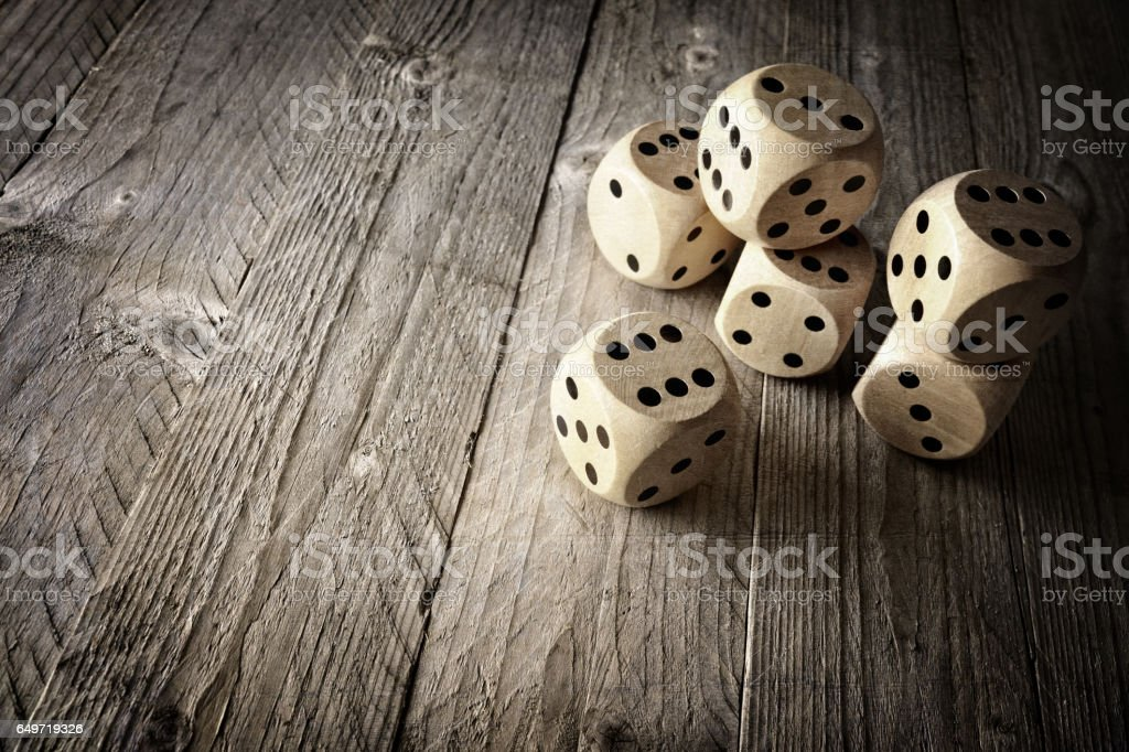 Dice chance and risk concept stock photo