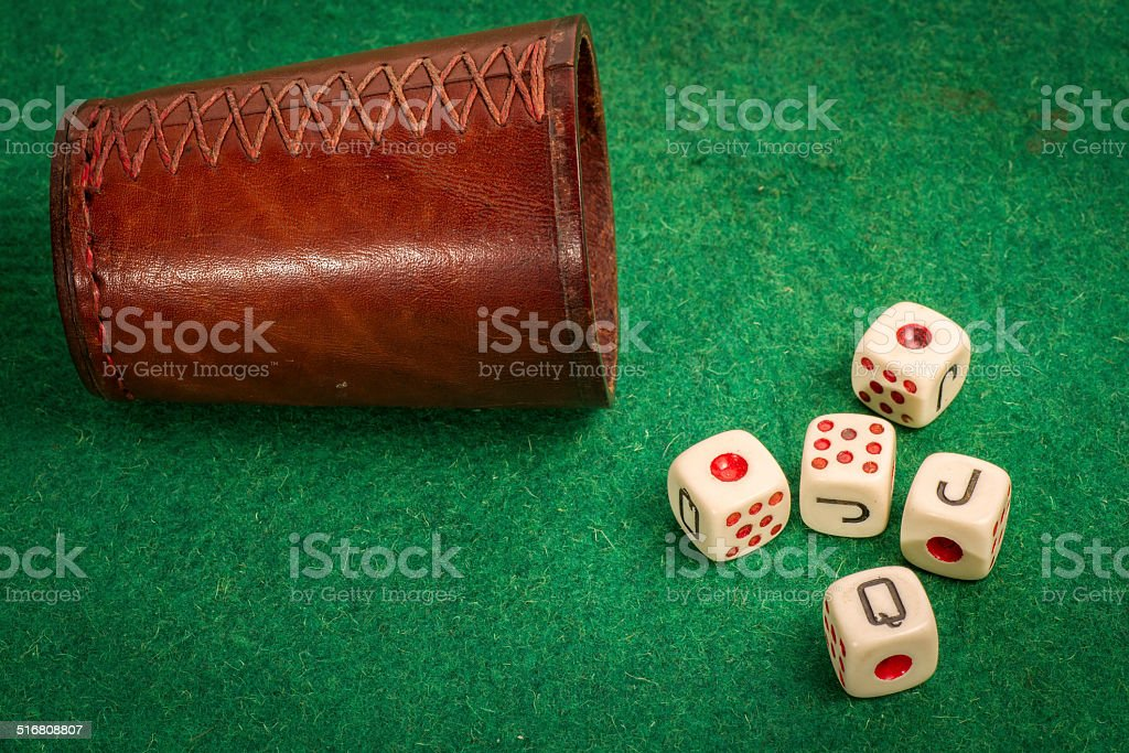 Dice Cup with Dices stock photo