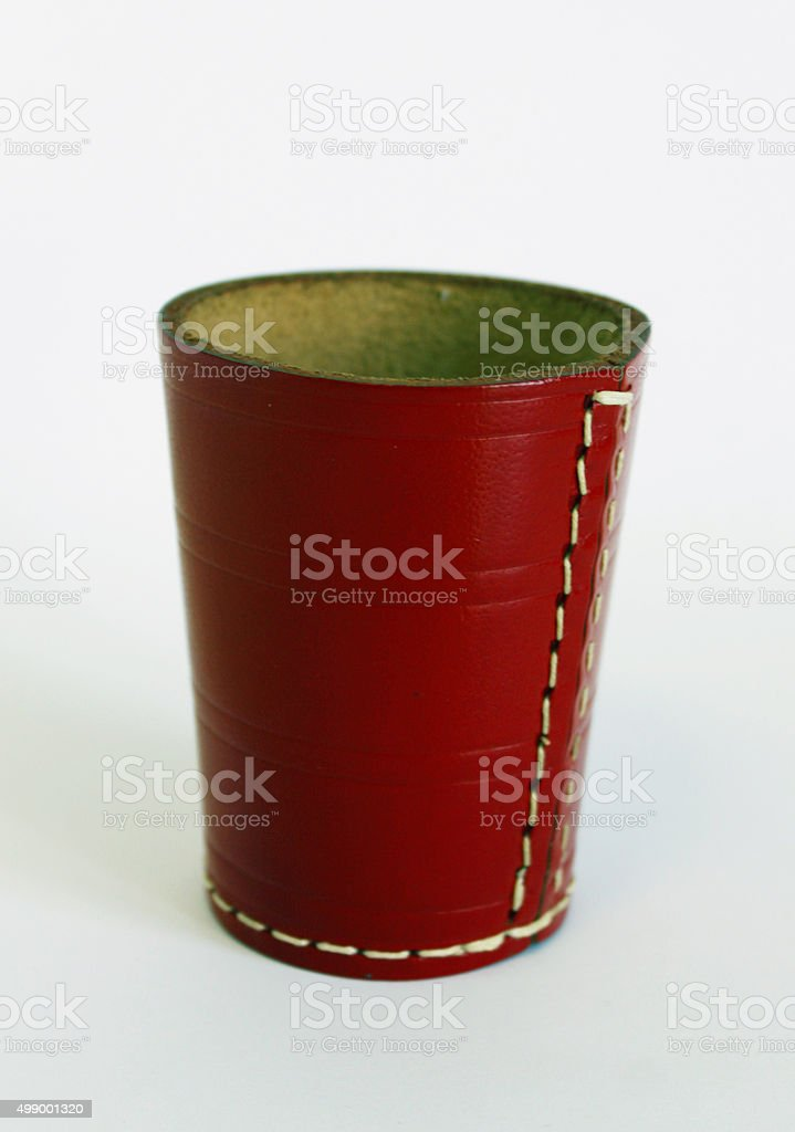 dice cup wuerfel wuerfelbecher game play luck stock photo