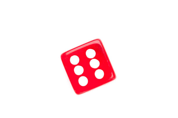 dice designating a number six - number 6 stock photos and pictures