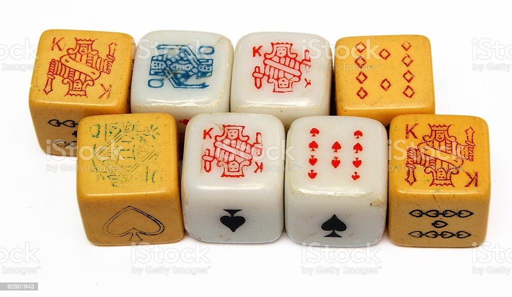 Dice - eight lined up royalty-free stock photo