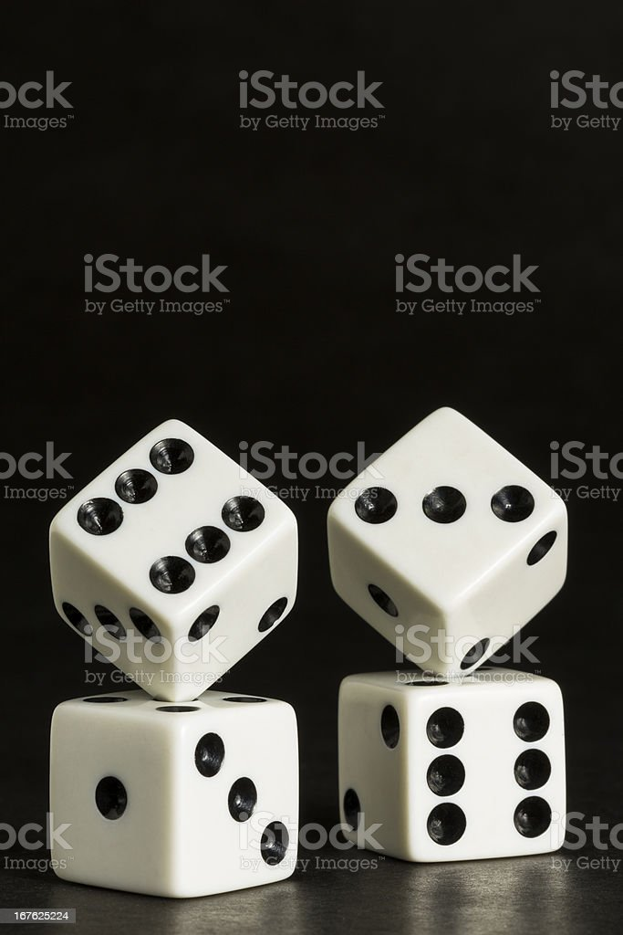 Dice Formation royalty-free stock photo