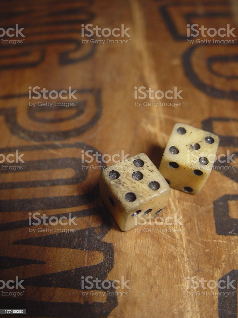 Dice - Game Piece, Gambling royalty-free stock photo