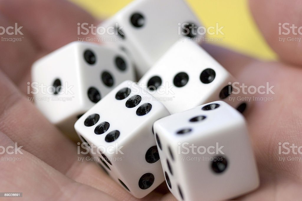 Dice in Hand royalty-free stock photo