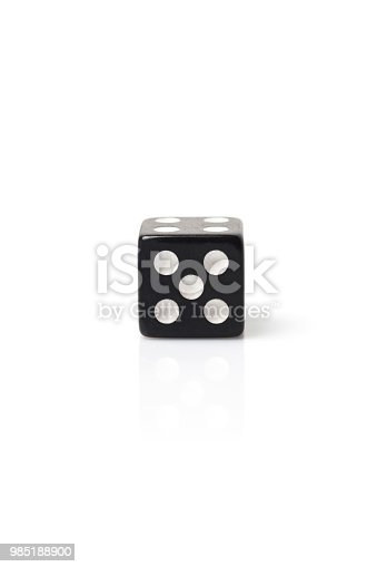 Dice, Number 5 isolated on white background