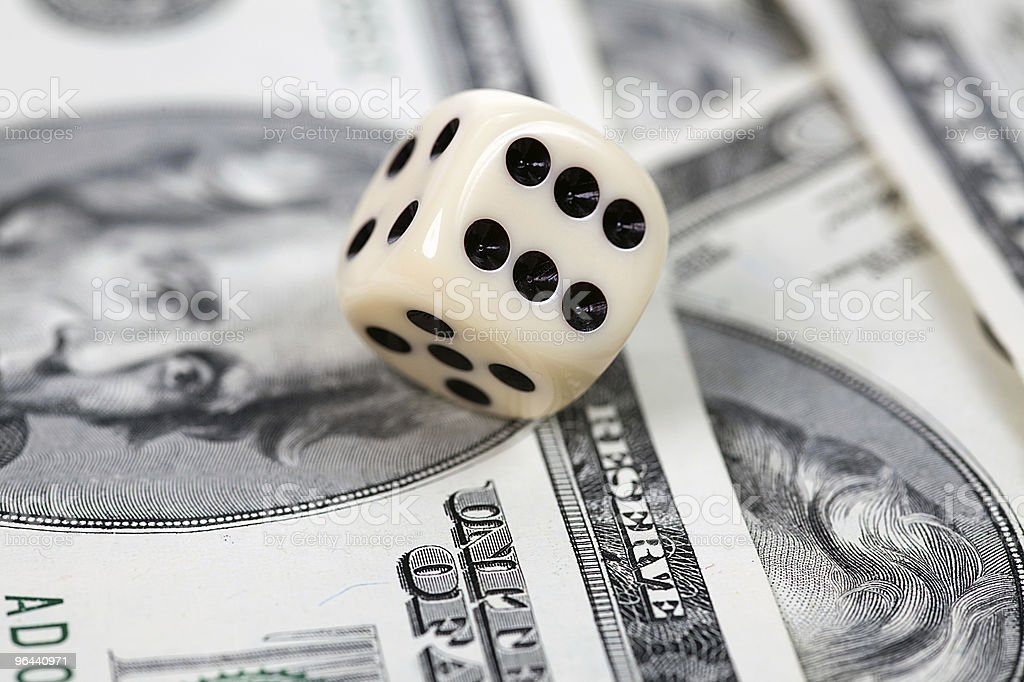 Dice on american money - Royalty-free Casino Stock Photo