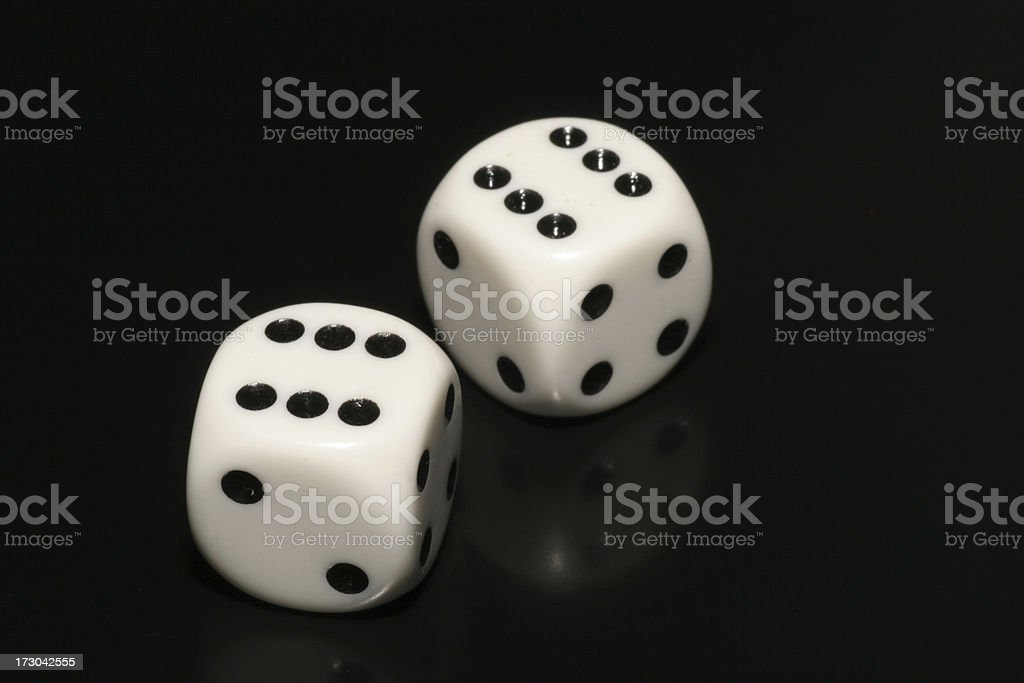 Dice on black royalty-free stock photo