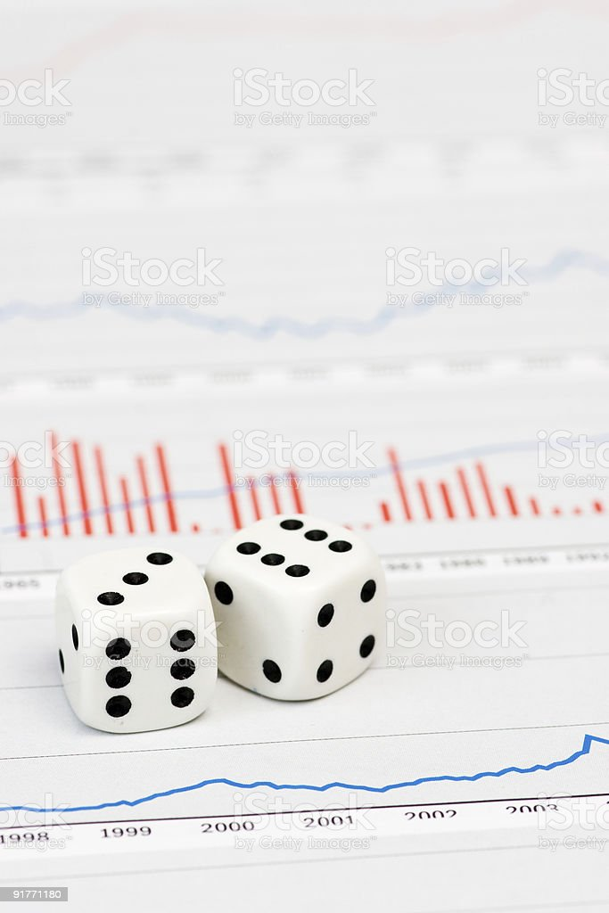 Dice on figures royalty-free stock photo