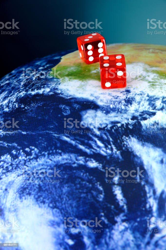 Dado sul pianeta Terra foto stock royalty-free