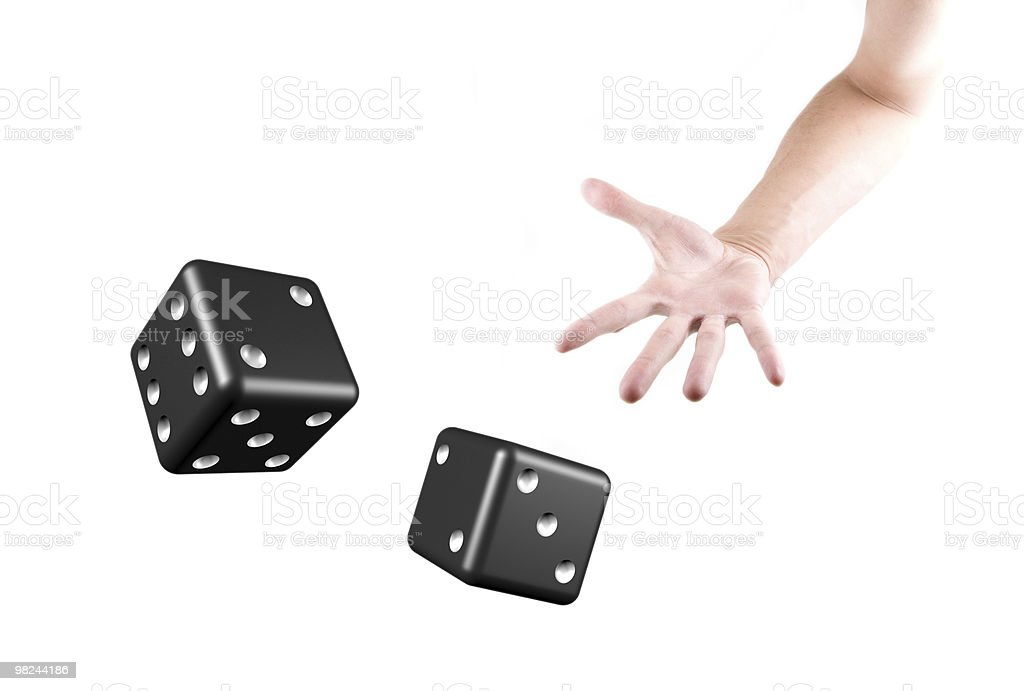 dice on the white royalty-free stock photo