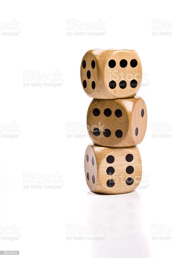 dice on white royalty-free stock photo