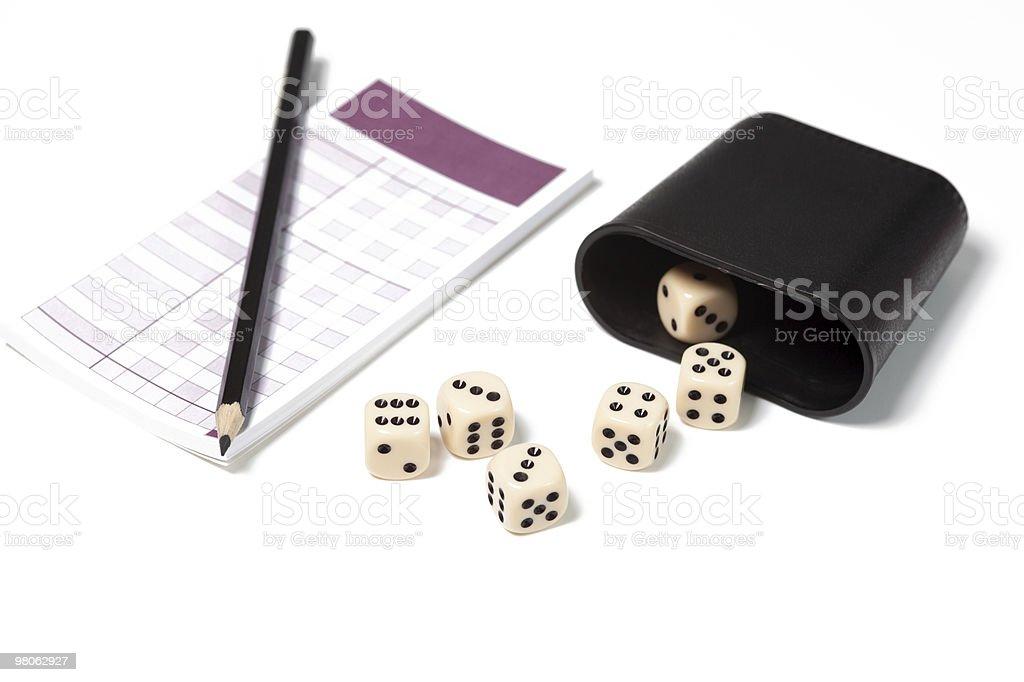 dice on white royalty-free stock photo