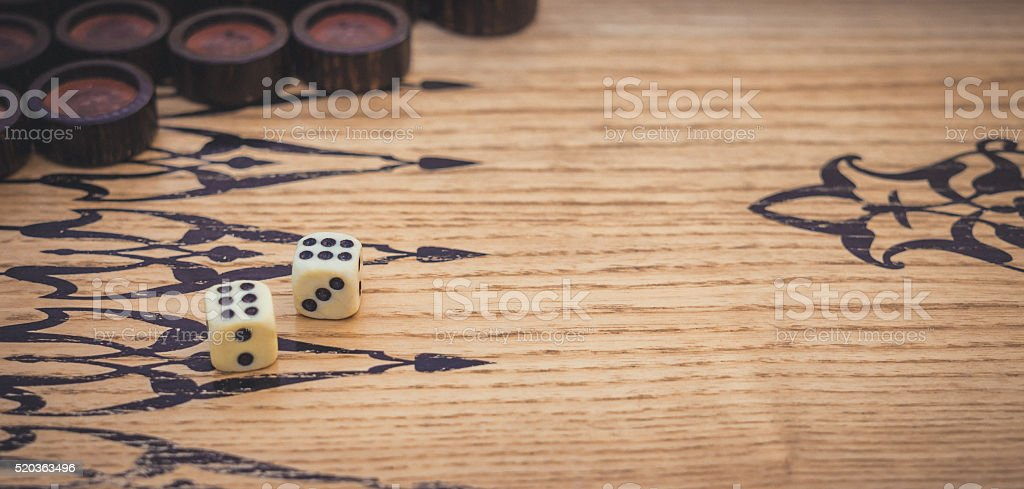 Dice. Passion and luck stock photo