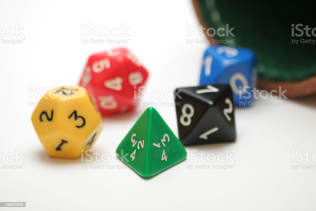 RPG dice royalty-free stock photo