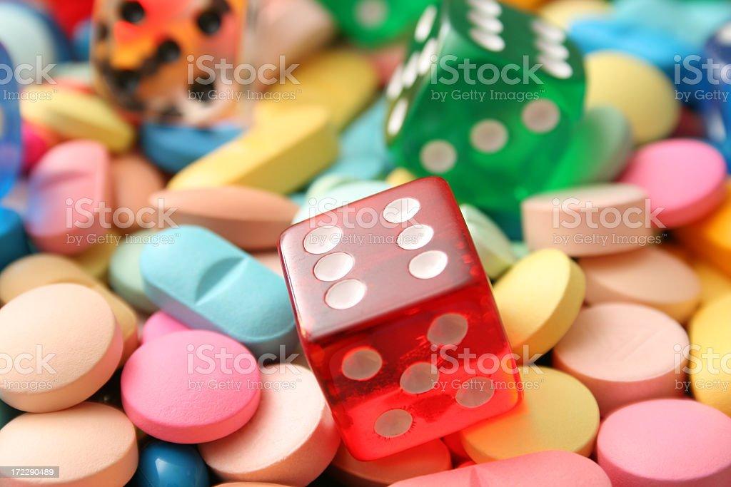 Dice & pills royalty-free stock photo