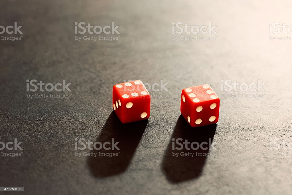 Dice show top score but it's still gambling royalty-free stock photo
