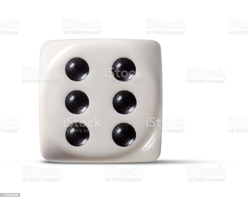 Dice six stock photo