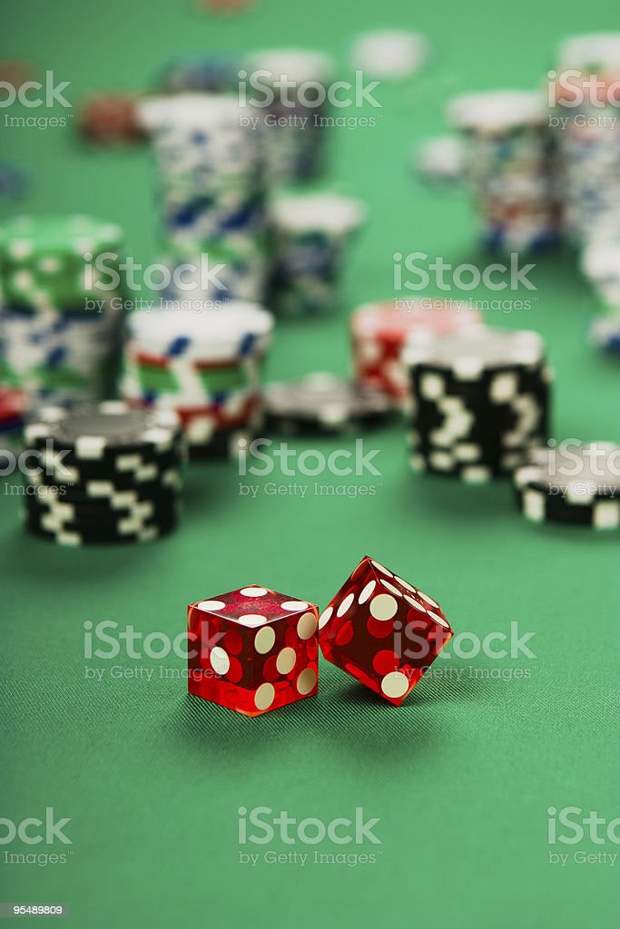 dice with chips royalty-free stock photo
