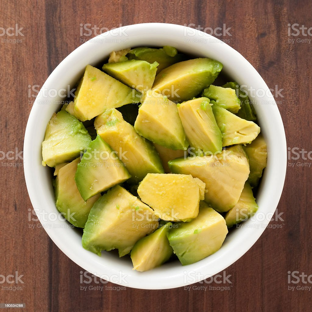Diced avocado stock photo
