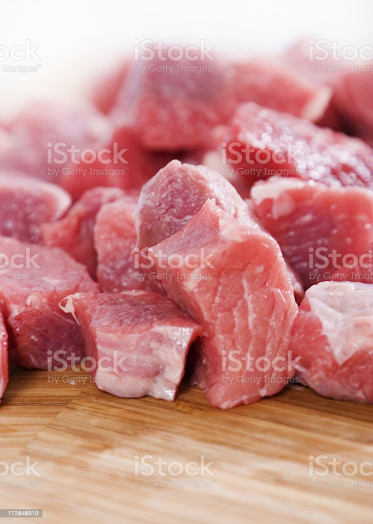 Diced beef royalty-free stock photo