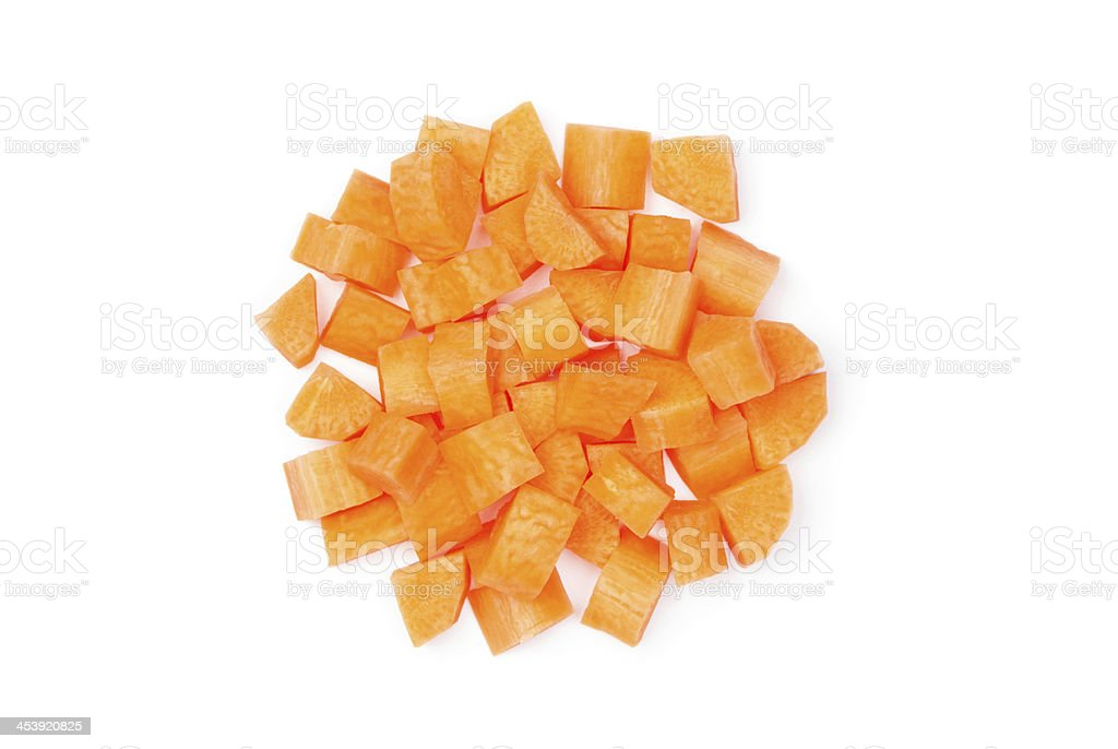 Diced carrot royalty-free stock photo
