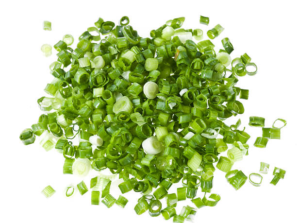 diced green onions  chopped food stock pictures, royalty-free photos & images