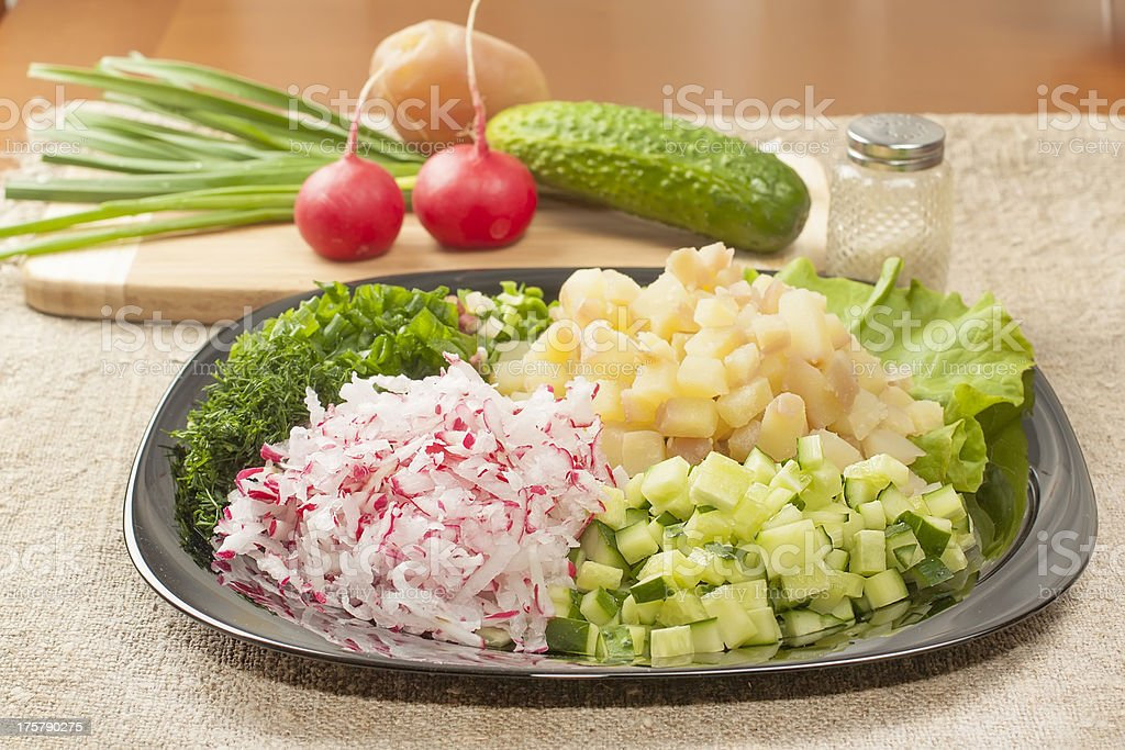 diced vegetables royalty-free stock photo