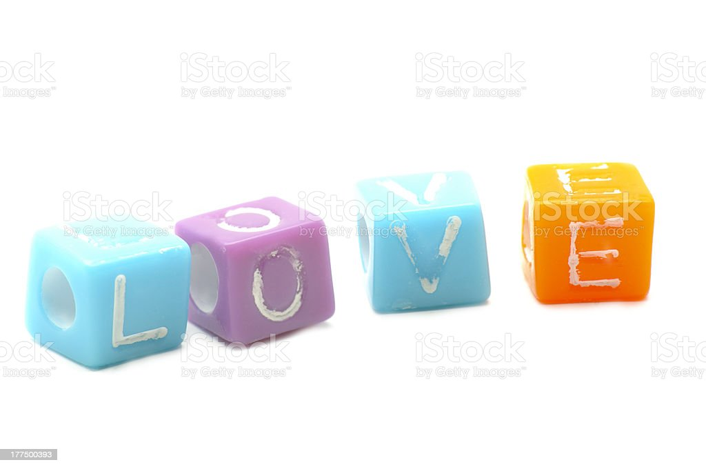 Dices and Love royalty-free stock photo