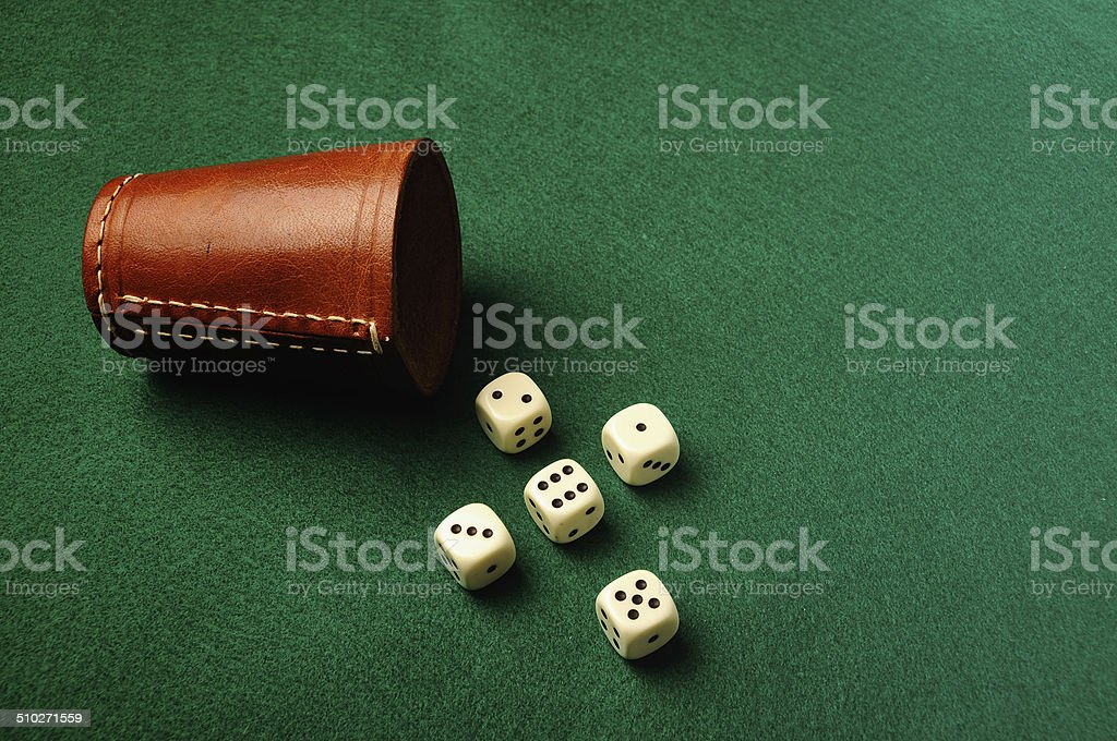dices cross stock photo