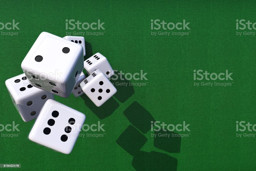 Dices Games Background stock photo