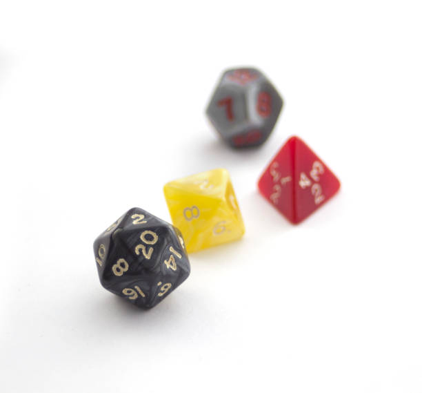 RPG dices isolated on white stock photo
