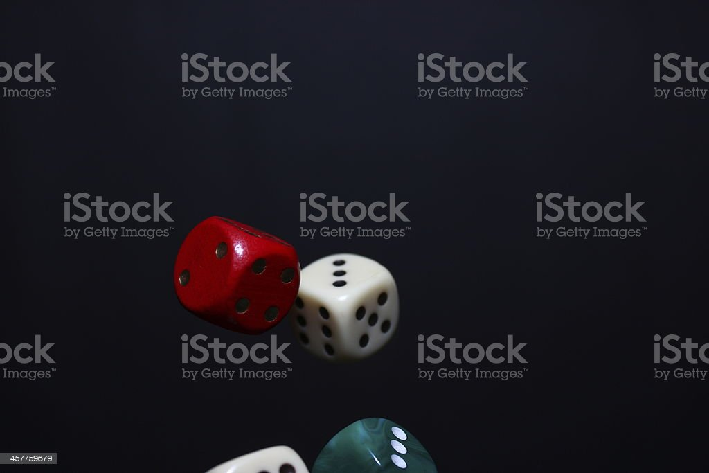 Dices number three stock photo