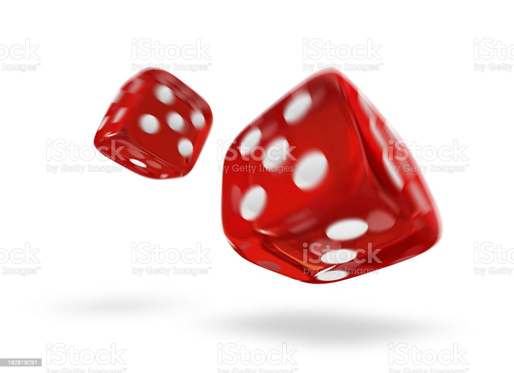 Dices (motion blurred) stock photo