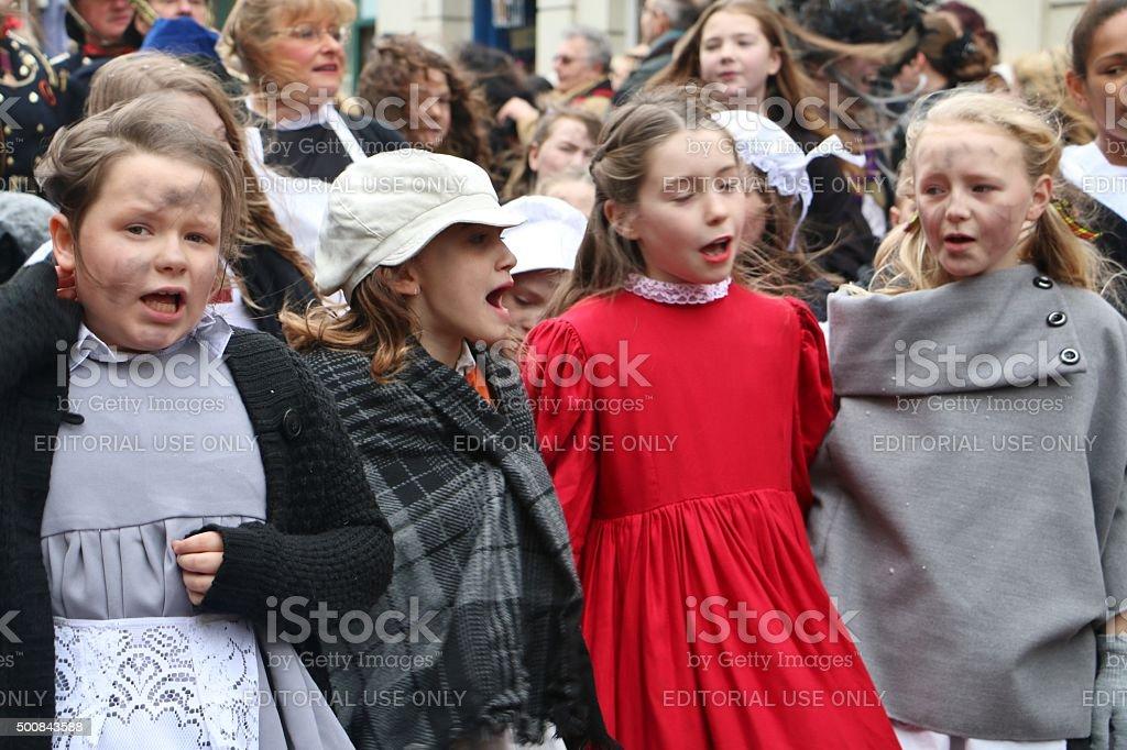 Dickens christmas festival rochester stock photo
