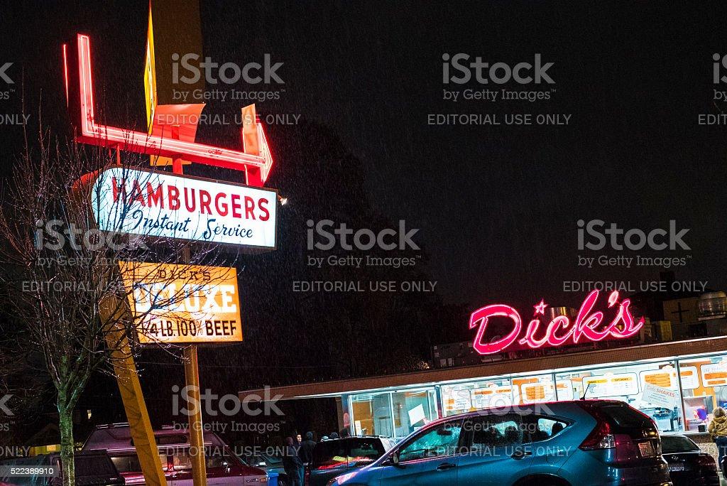 Dick's Hamburgers Drive-In Original Restaurant Wallingford, Seattle stock photo
