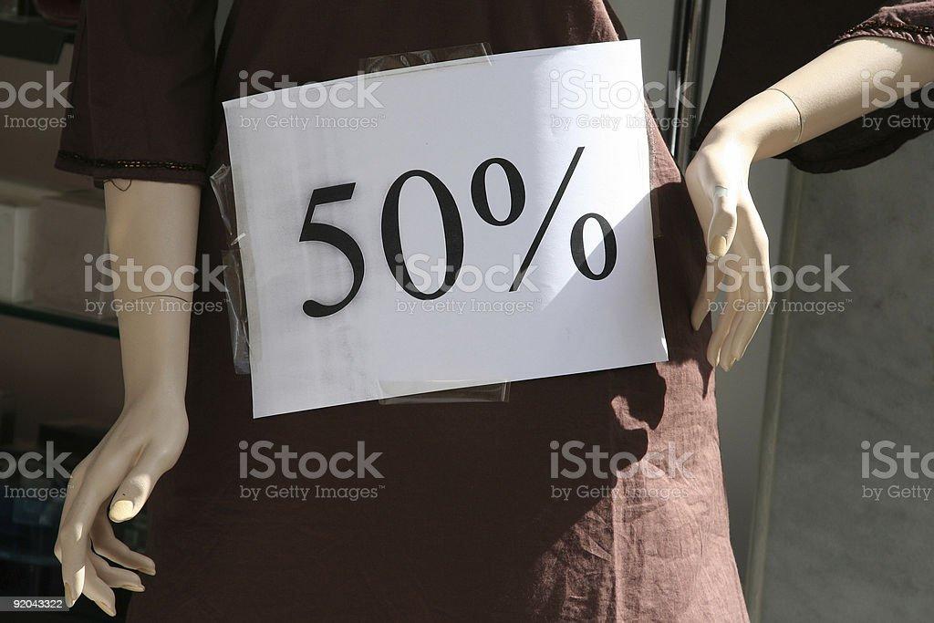 Desconto de 50% de desconto - foto de acervo