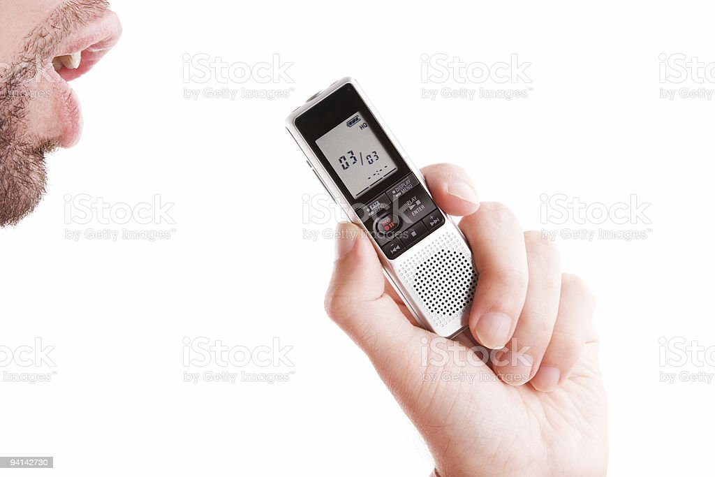 dictaphone royalty-free stock photo