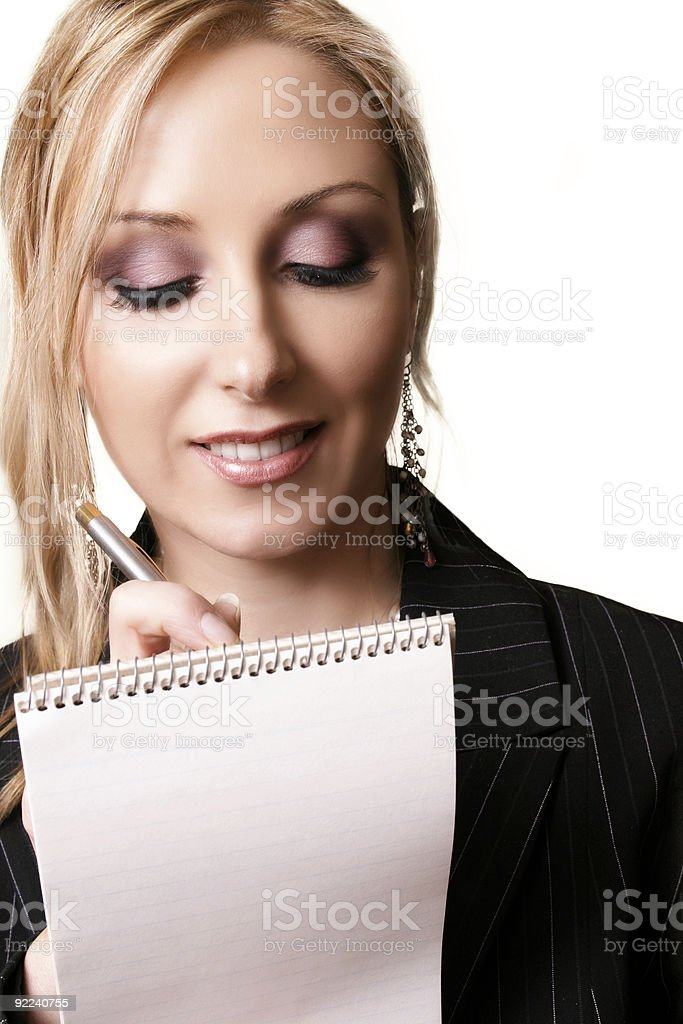 Dictation royalty-free stock photo