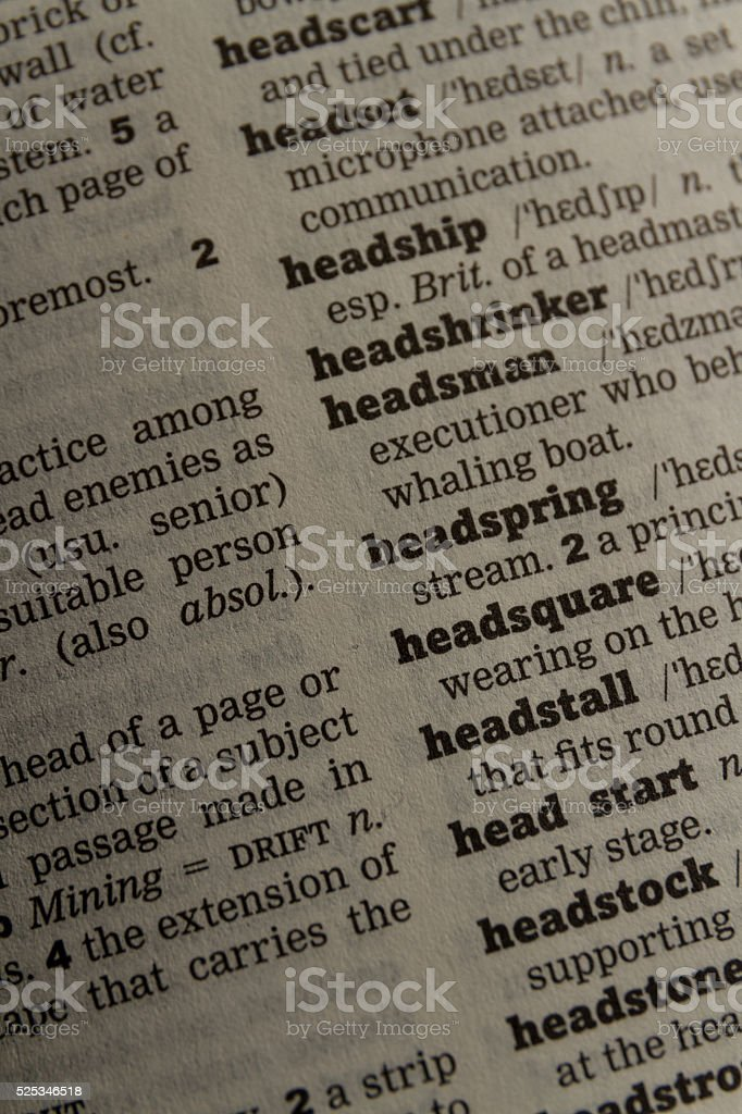 Dictionary close up royalty-free stock photo