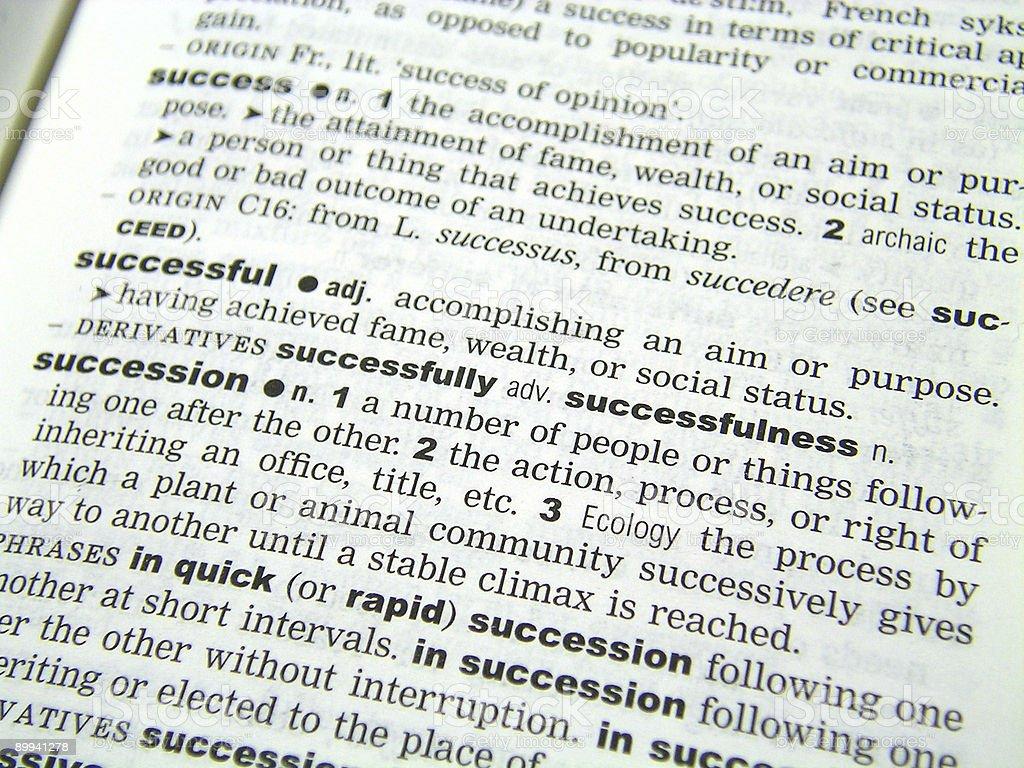 Dictionary close up royalty-free stock photo