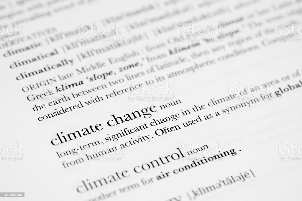 Dictionary Definition - Climate Change royalty-free stock photo