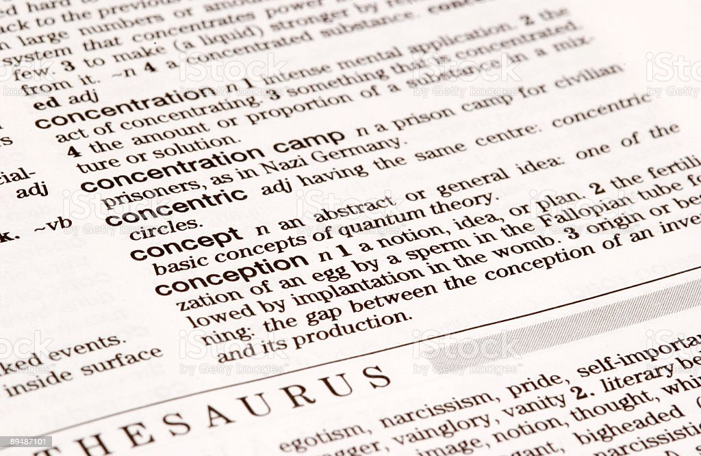 Dictionary Definition: Concept royalty-free stock photo